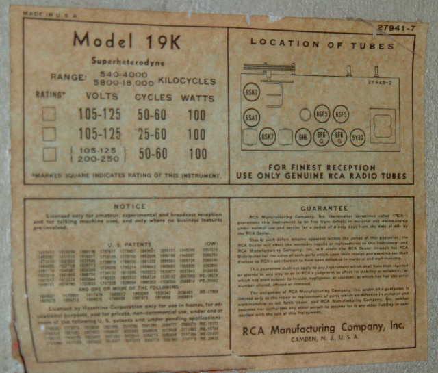 rca 19k label
