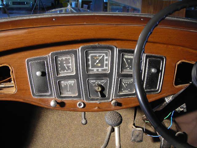 vauxhall 16 1935 dashboard